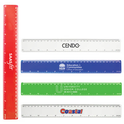 30cm Plastic Ruler - (printed with 1 colour(s))  (K113_PB)