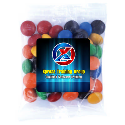 M&M s in 50 Gram Cello Bag - (printed with 1 colour(s)) LL33012_LLPRINT