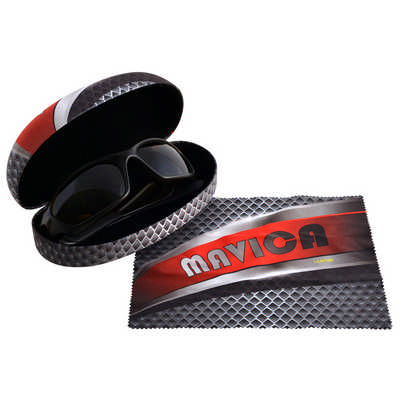 Clamshell Sunglasses Case with Custom Lens Cloth
