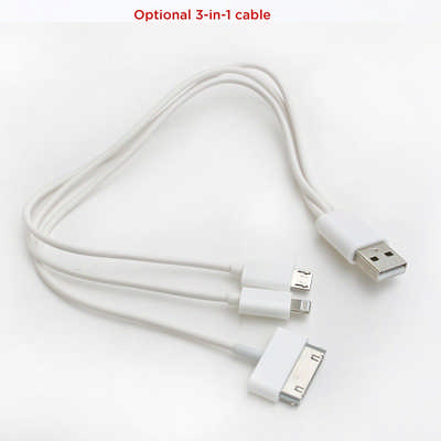 3-in-1 Cable for Power Banks 7703WH_NOTT