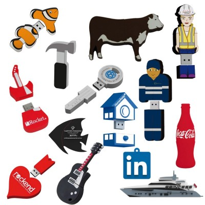 2D Custom Shape USB Flash Drive (25 Day) 8Gb