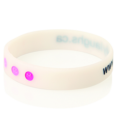 Debossed Colour Filled Silicone Wristband WB04_GLOBAL