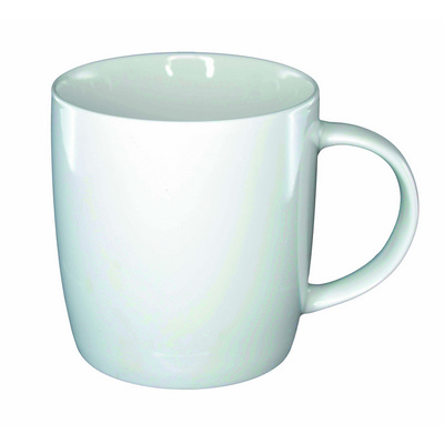 Ariston New Bone Barrel Mug - White - (printed with 1 colour(s)) NB138402_PPI