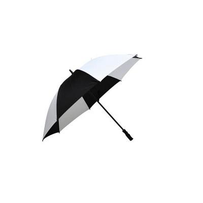 Ariston Fairway Umbrella - Black / White - (printed with 1 colour(s)) FGU302_PPI