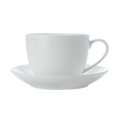 Cashmere Bone China Cup & Saucer - 230ml - (printed with 1 colour(s)) BC1884_PPI