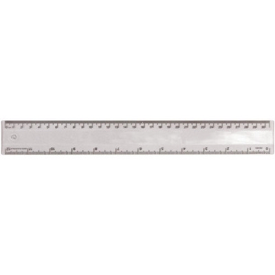 Ruler 30cm Translucent Clear - (printed with 1 colour(s)) RULE30CM031_PPI