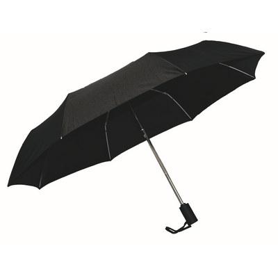 Ariston Kompakt Umbrella - Black - (printed with 1 colour(s)) KU202_PPI