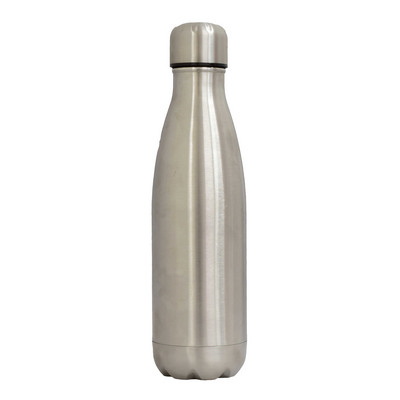 Sierra Stainless Steel Drink Bottle - Silver - (printed with 1 colour(s)) SRB01_PPI