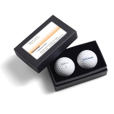 Titleist 2-Ball Business Card Box - TitleistTour Soft - (printed with 1 colour(s)) 2BBCNXT_PPI