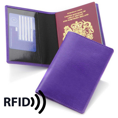 Economy Passport Wallet with RFID Protection - (printed with 1 colour(s)) 4120RFID_CC