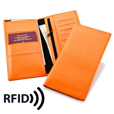 Deluxe Travel Wallet with RFID Protection - (printed with 1 colour(s)) 9221RFID_CC