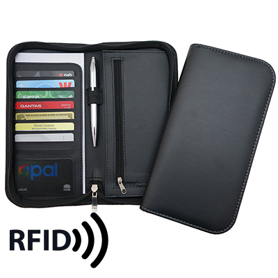 Deluxe Zip Travel Wallet with RFID Protection TA23RFID_CC