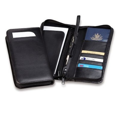 Deluxe Zip Travel Wallet with Wrist Strap TA6_CC
