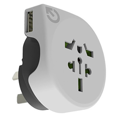 World to Australia Travel Adaptor with USB - (printed with 4 colour(s)) AR890U_PROMOITS