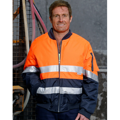 High Visibility Tow Tone Flying Jacket with 3M Reflective Tapes SW16A_win