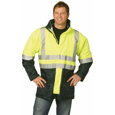 Hi-Vis Two Tone Rain Proof Safety Jacket With 3M Tapes SW18_win