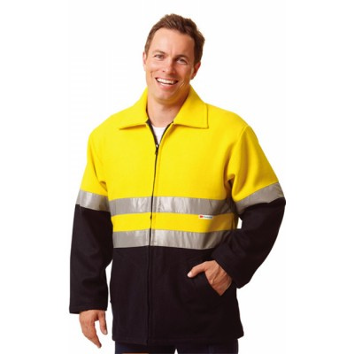 High Visibility Two Tone Safety Bluey Jacket  SW31_win