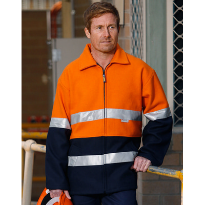 Hi-Vis Two Tone Bluey Safety Jacket with 3M SW31A_win