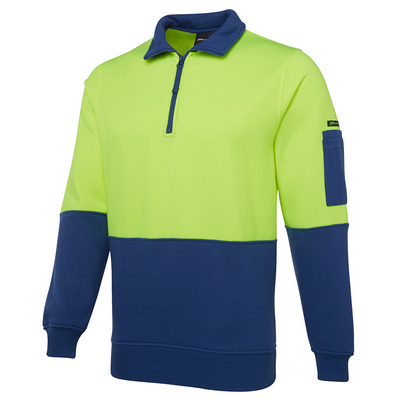 JBs Hi Vis 1/2 Zip Fleecy Sweat 6HVFH_JBS