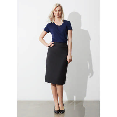 Ladies Classic Below Knee Skirt BS29323_BIZ