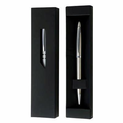 Black Gift Box w Window - (printed with 1 colour(s)) F204_PB