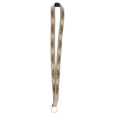 19mm Glitter Custom Lanyard - (printed with 1 colour(s)) L105.Gold_PB