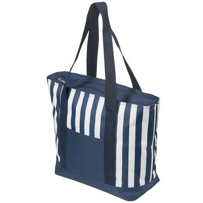 17.5 Litre Zippered Striped Beach Cooler bag 4279BL_NOTT