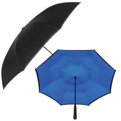 48 inch Auto Close Inversion Umbrella - Black SB1007BK_NOTT