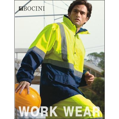 Unisex Adults Hi-Vis Mesh Lining Jacket WithReflective Tape SJ0432_BOC
