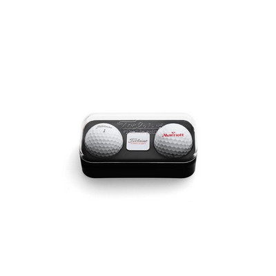 Standard 2-Ball Capsule with Marker - Titleist ProV1/V1X - (printed with 1 colour(s)) 2BTUPROV_PPI