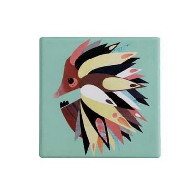 M&W Pete Cromer Ceramic Square Tile Coaster 9.5cm Echidna DU0085_PPI