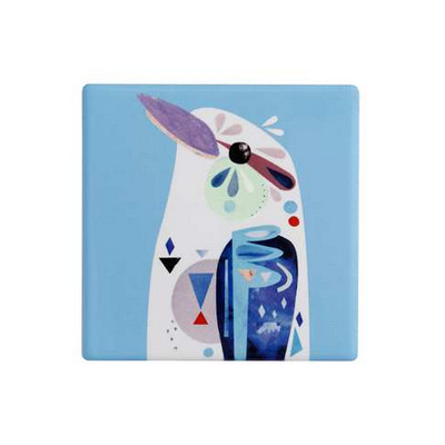 M&W Pete Cromer Ceramic Square Tile Coaster 9.5cm Kookaburra DU0093_PPI
