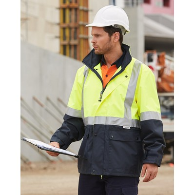 Hi-Vis Safety Jacket With 3M Tapes SW18_win
