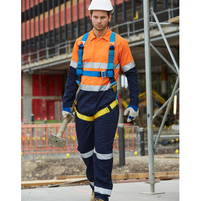 Mens Cotton Drill Coverall with 3M Scotchlite Reflective Tapes SW207_WIN