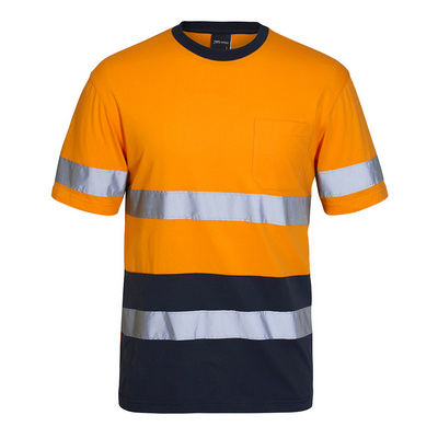 JBs Hi Vis (D+N) Cotton T-Shirt 6DNTC_JBS